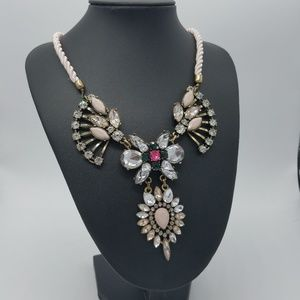 Jewelry - Peacock Petals Crystals Bib Statement Necklace
